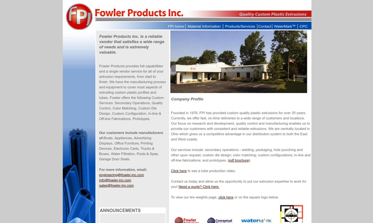 Fowler Products Inc.