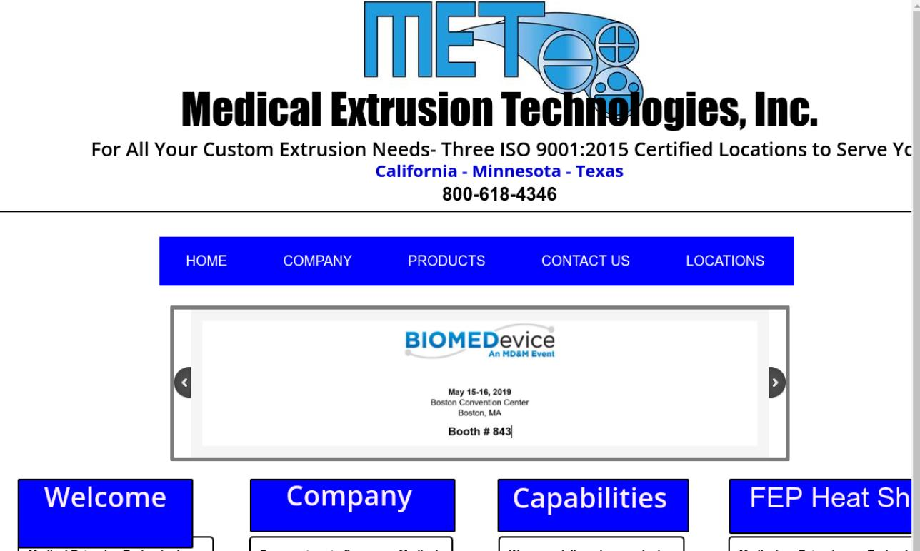 Medical Extrusion Technologies, Inc.